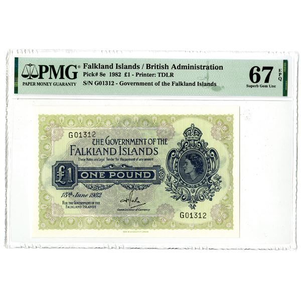 Government of the Falkland Islands, 1982 Issued Banknote