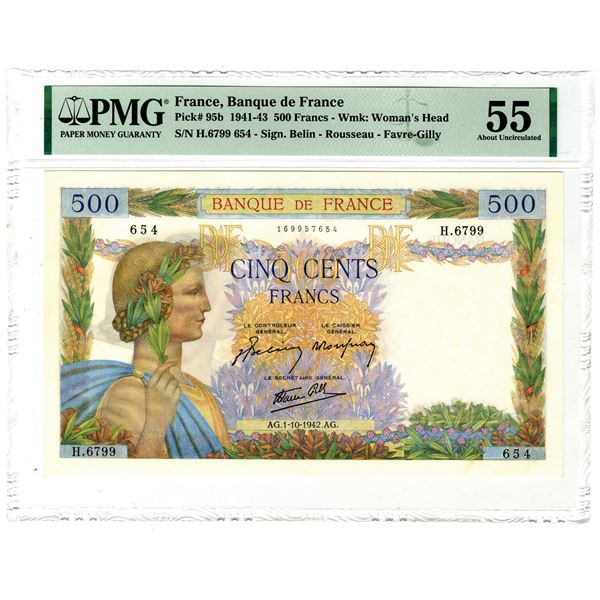 Banque de France, 1941-43 Issued Banknote