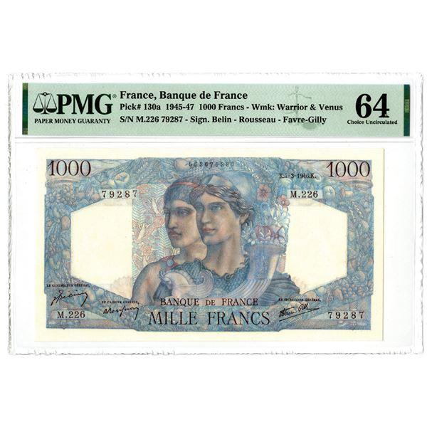 Banque de France, 1945-47 Issued Banknote