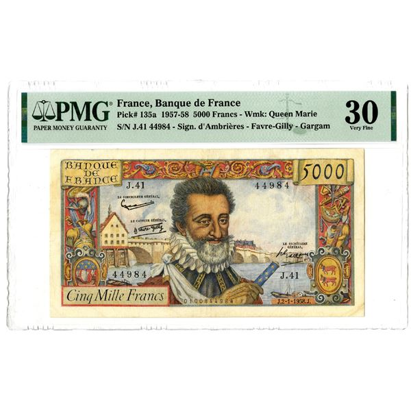 Banque de France, 1957-58 Issued Banknote