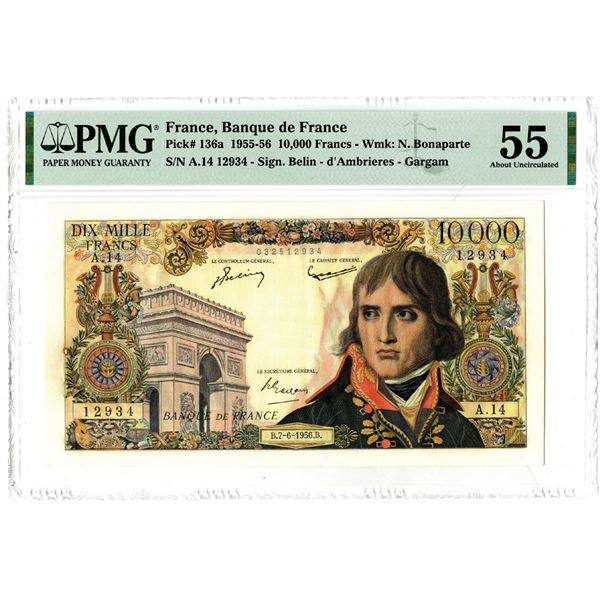 Banque de France, 1955-56 Issued Banknote