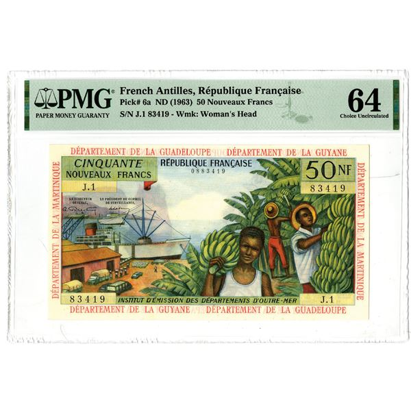 Republique Francaise, ND (1963) Issued Banknote