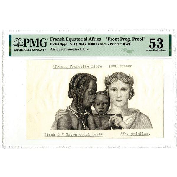 Afrique Francaise Libre, ND (1941) Front Progressive Proof