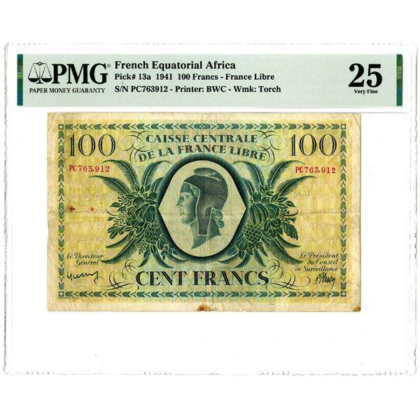 Caisse Centrale de la France Libre, 1941 Issued Banknote