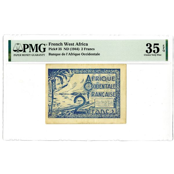 Banque de l'Afrique Occidentale, ND (1944) Issued Banknote
