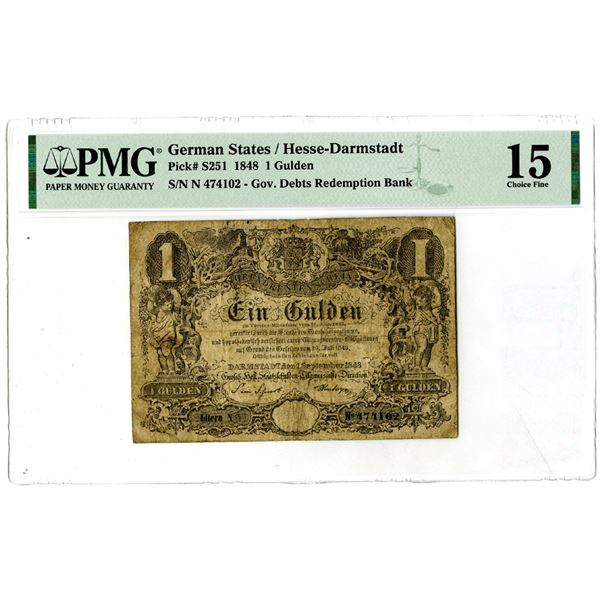 Government Debts Redemption Bank, 1848 Issued Banknote