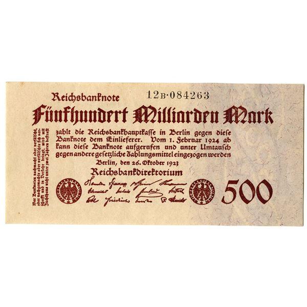Reichsbanknote, 1923 Issued Banknote