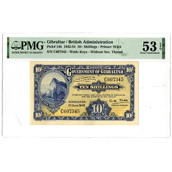 Government of Gibraltar, 1942 Issued Banknote