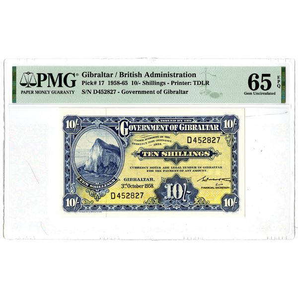 Government of Gibraltar, 1958-65 Issued Banknote