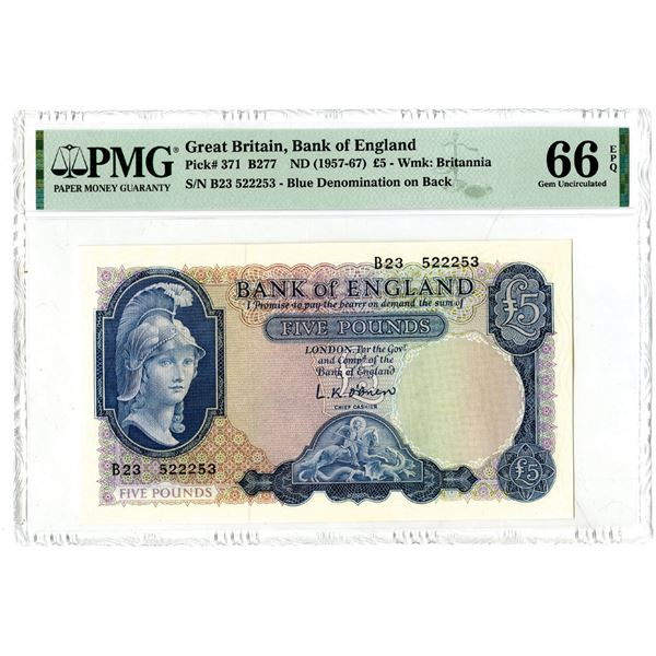 Bank of England, ND (1957-67) Issued Banknote