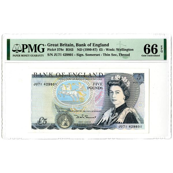 Bank of England, ND (1980-87) Issued Banknote