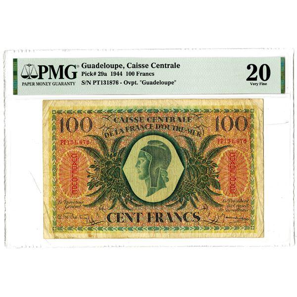 Caisse Centrale de la France d'Outre-Mer, 1944 Issued Banknote