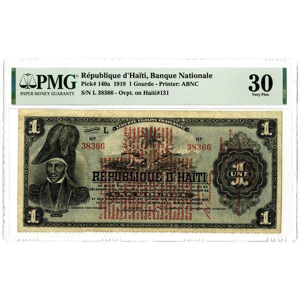 Banque Nationale de la Republique d'Haiti, 1919 Issued Banknote