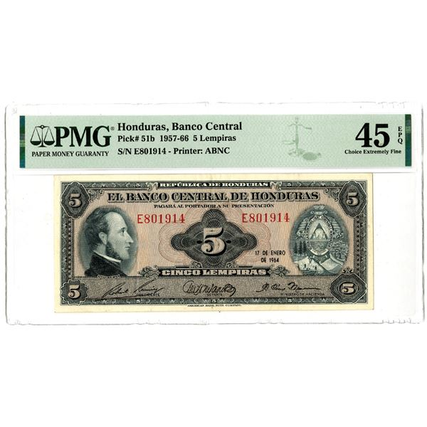 Banco Central de Honduras, 1957-66 Issued Banknote