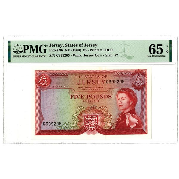 States of Jersey, ND (1963) Issued Banknote