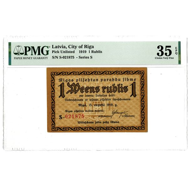 City of Riga, 1919 Issued Banknote - Notgeld