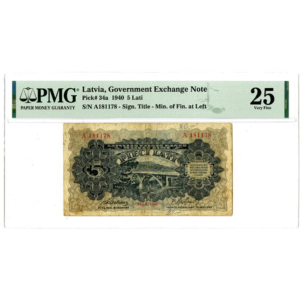 Government Exchange Note, 1940 Issued Banknote