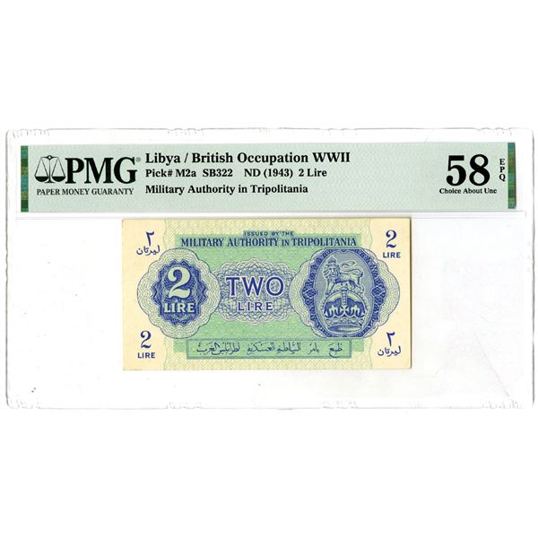 Military Authority in Tripolitania, ND (1943) Issued Banknote