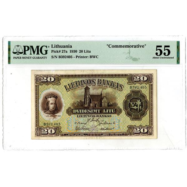 Lietuvos Bankas, 1930 Commemorative Issued Banknote