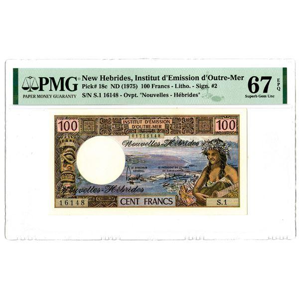 Institut d'Emission d'Outre-Mer, ND (1975) Issued Banknote