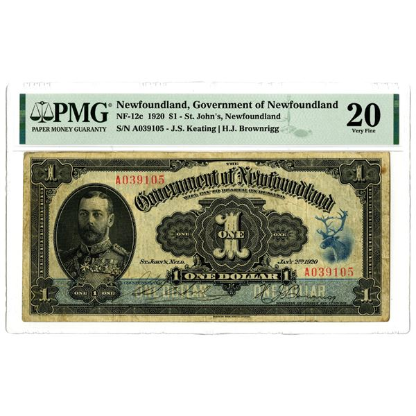Government of Newfoundland, 1920 Issued Banknote