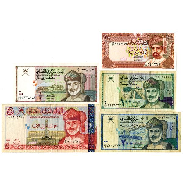 Central Bank of Oman Group of Issued Banknotes