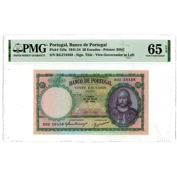 Banco de Portugal, 1941-54 Issued Banknote