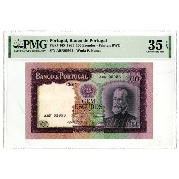 Banco de Portugal, 1961 Issued Banknote