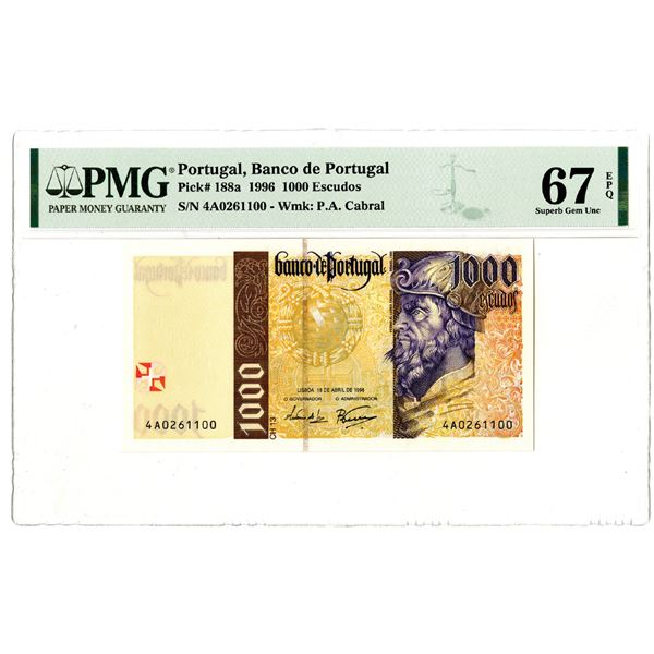 Banco de Portugal, 1996 Issued Banknote