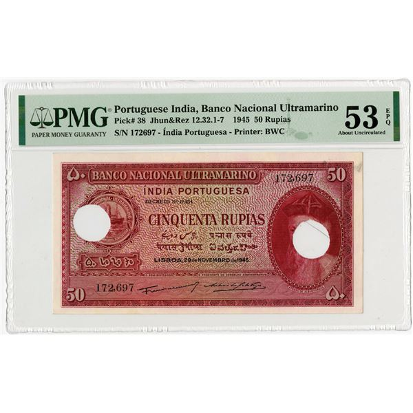 Banco Nacional Ultramarino, 1945 Issued Banknote