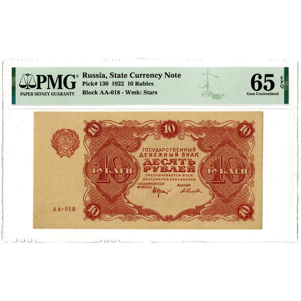 State Currency Note, 1922 High Grade Issued Banknote