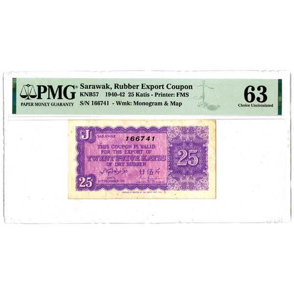 Rubber Export Coupon, 1940-42 Issued Note