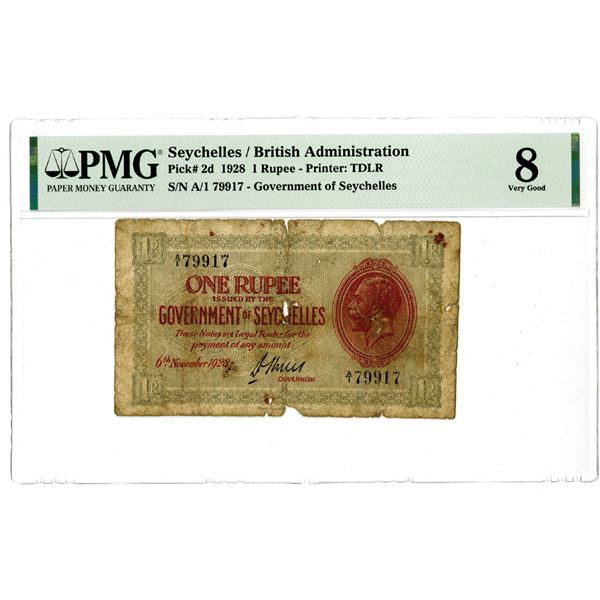 Government of Seychelles, 1928 Issued Banknote