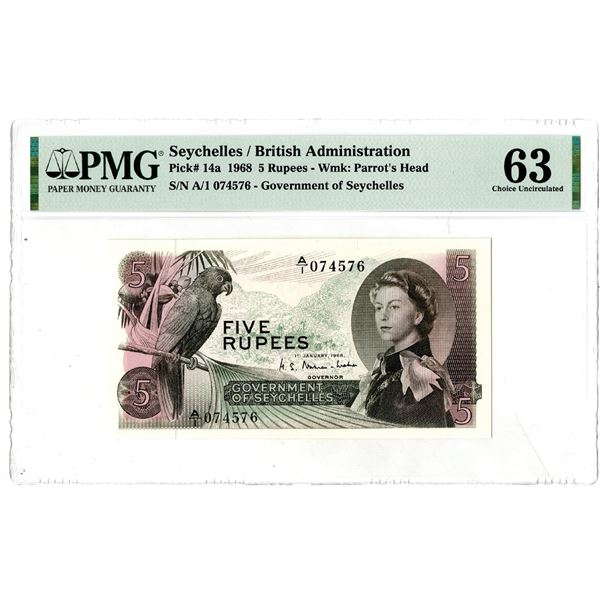 Government of Seychelles, 1968 Issued Banknote