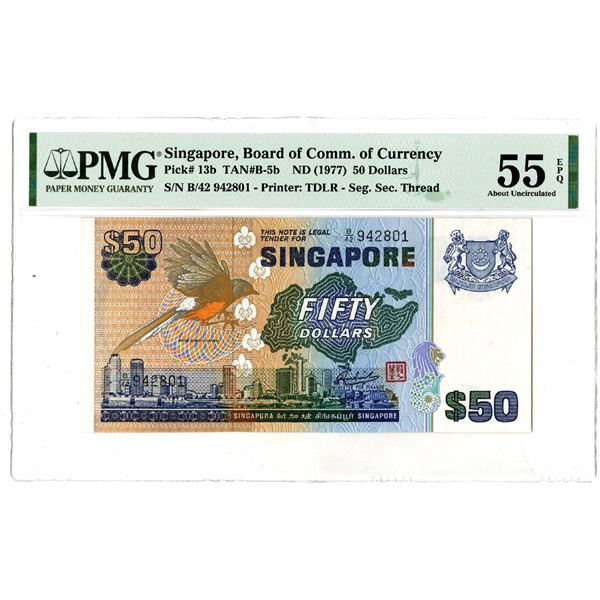 Singapore, Board of Commissioner of Currency, ND (1977) Issued Banknote