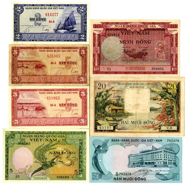 South Vietnam Collection of Issued Notes