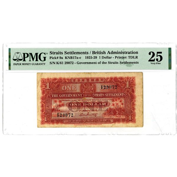 Government of the Straits Settlements, 1925-29 Issued Banknote