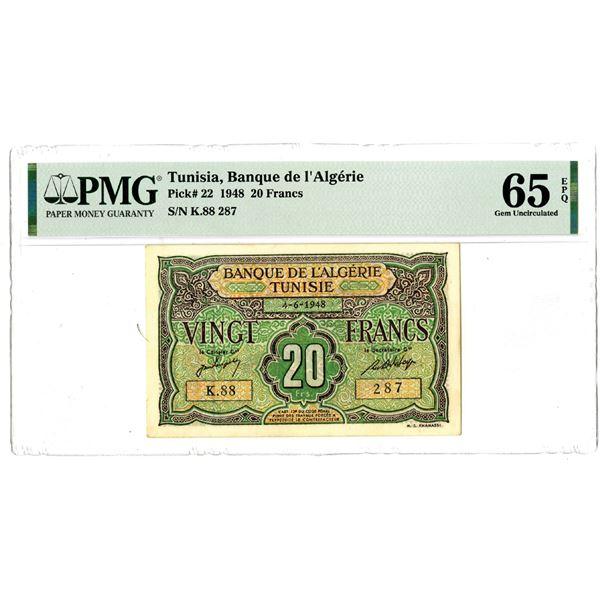 Banque de l'Algerie, 1948 Issued Banknote