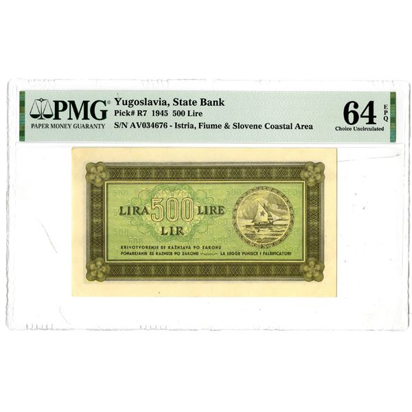 State Bank of Yugoslavia, 1945 Issued Banknote
