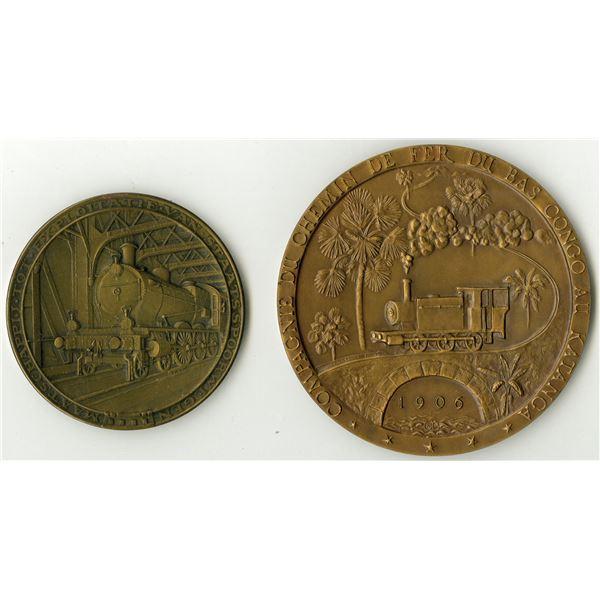 Commemorative Bronze Railroad Medal Pair, ca. 1913-1956