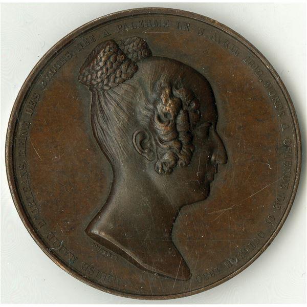 Louise of Orleans, Queen of Belgium, Bronze Medal, ca.1850