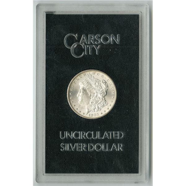 Carson City, Nevada,  1883 CC, GSA Uncirculated Silver Morgan Dollar