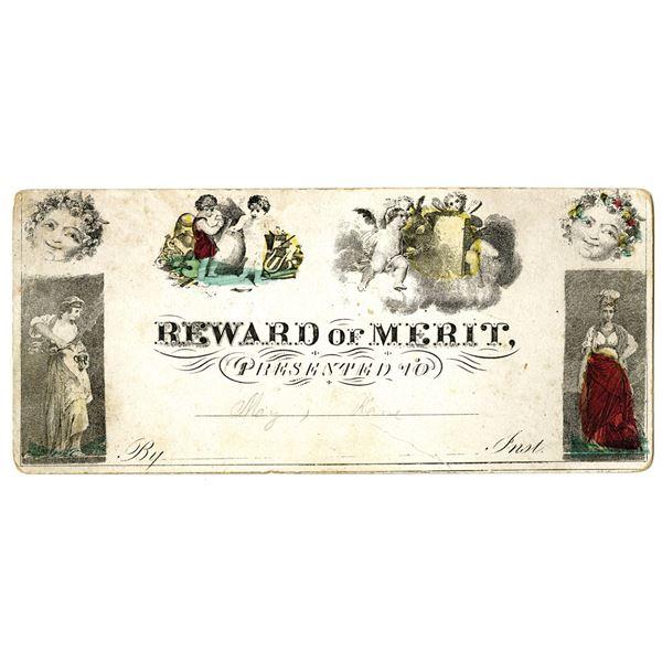 Reward of Merit, 1851 Presented from Teacher