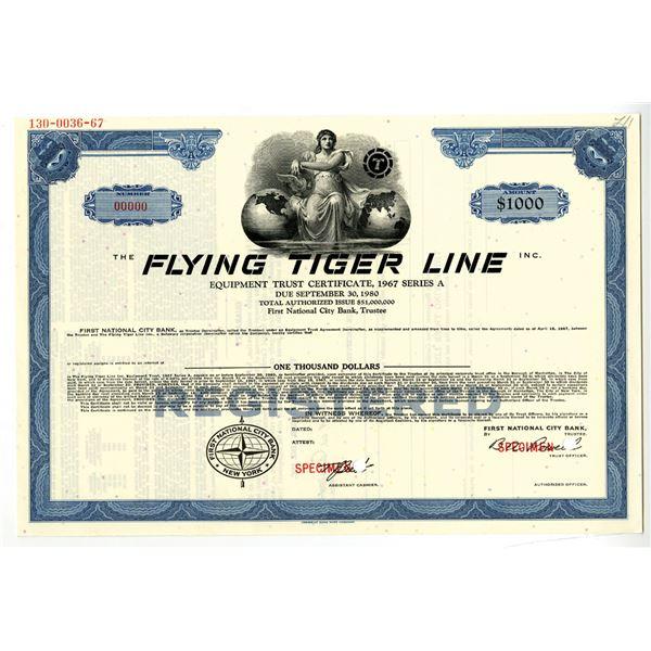 Flying Tiger Line Inc. 1967 Specimen Bond