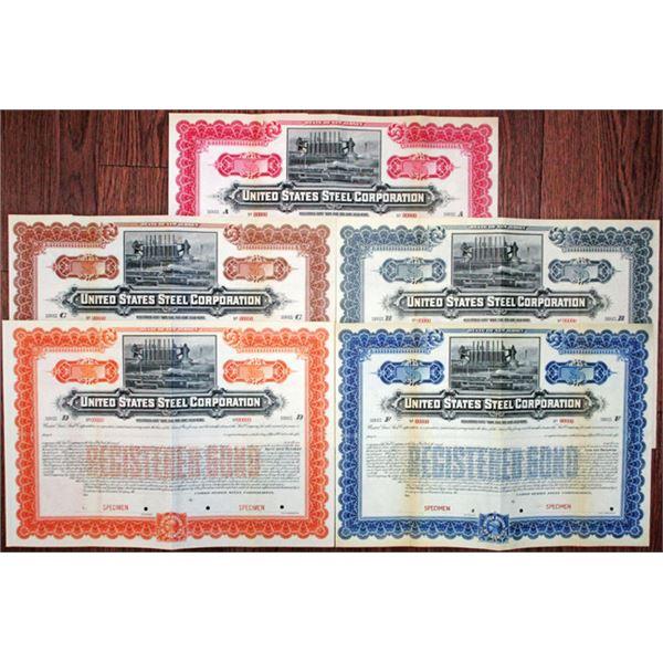 United States Steel Corp. 1901 Specimen Bond Quintet