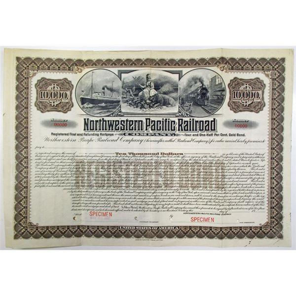 Northwestern Pacific Railroad Co. 1907 Specimen Bond Rarity