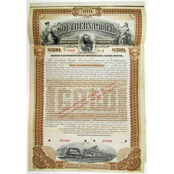 Southern Pacific Railroad Co. 1893 Specimen Bond