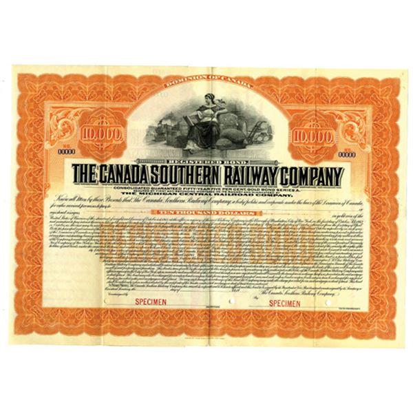 Canada Southern Railway Co. 1913 Specimen Bond
