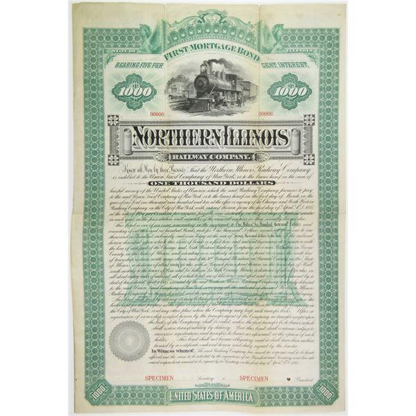 Northern Illinois Railway Co. 1885 Specimen Bond Rarity