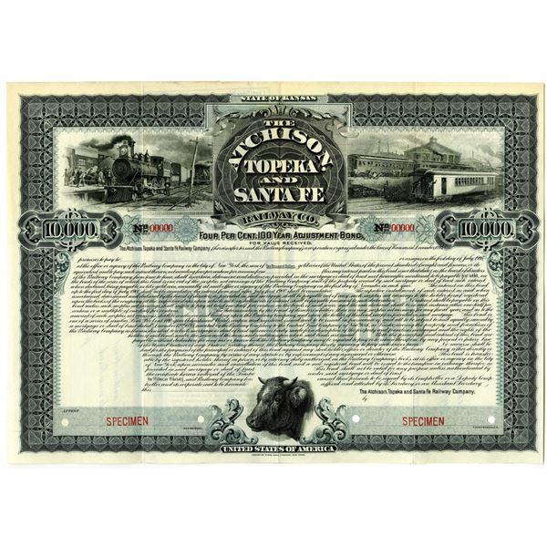 Atchison, Topeka and Santa Fe Railway Co., 1900 Specimen Bond